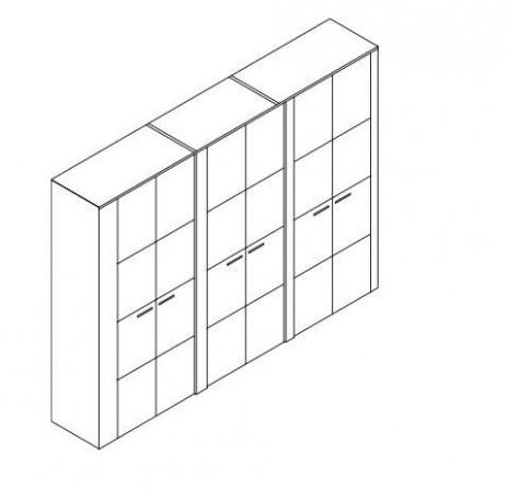 Šatní skříň Keros 27 dveří Jitona | Nábytek Stanislav Hrdý
