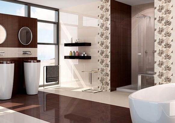 Rekonstrukce koupelny v panelovém bytě, hnědá koupelna, Svitavy ...