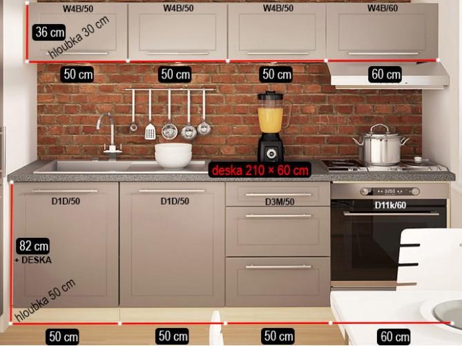 Kuchyňská linka Quantum 19 cm - NÁBYTEK SPRINT - kuchyně, kuchyňské ...