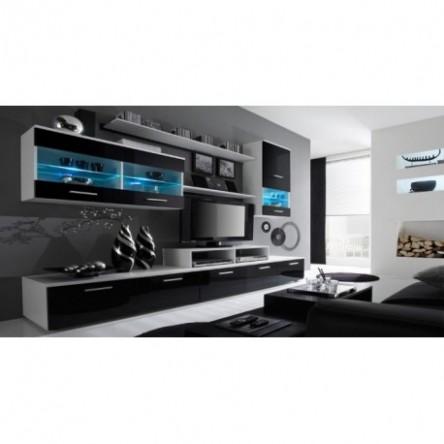 obývací stěna Alfa, alfa stěna, moderní stěna alfa, bílá obývací ...