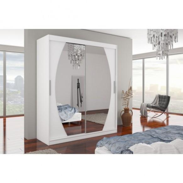 Šatní skříň BELA bílá levné Skříně do ložnice