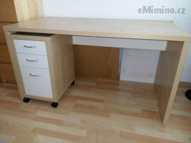 Psací stůl IKEA Malm (25x) a šuplíky na kolečkách Ikea - bazar ...