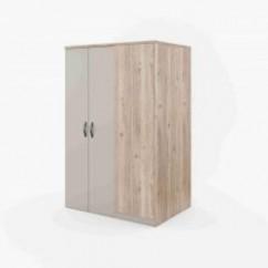 Rohová šatní skříň s osvětlením Flex FX-19L | Skříně z lamina ...