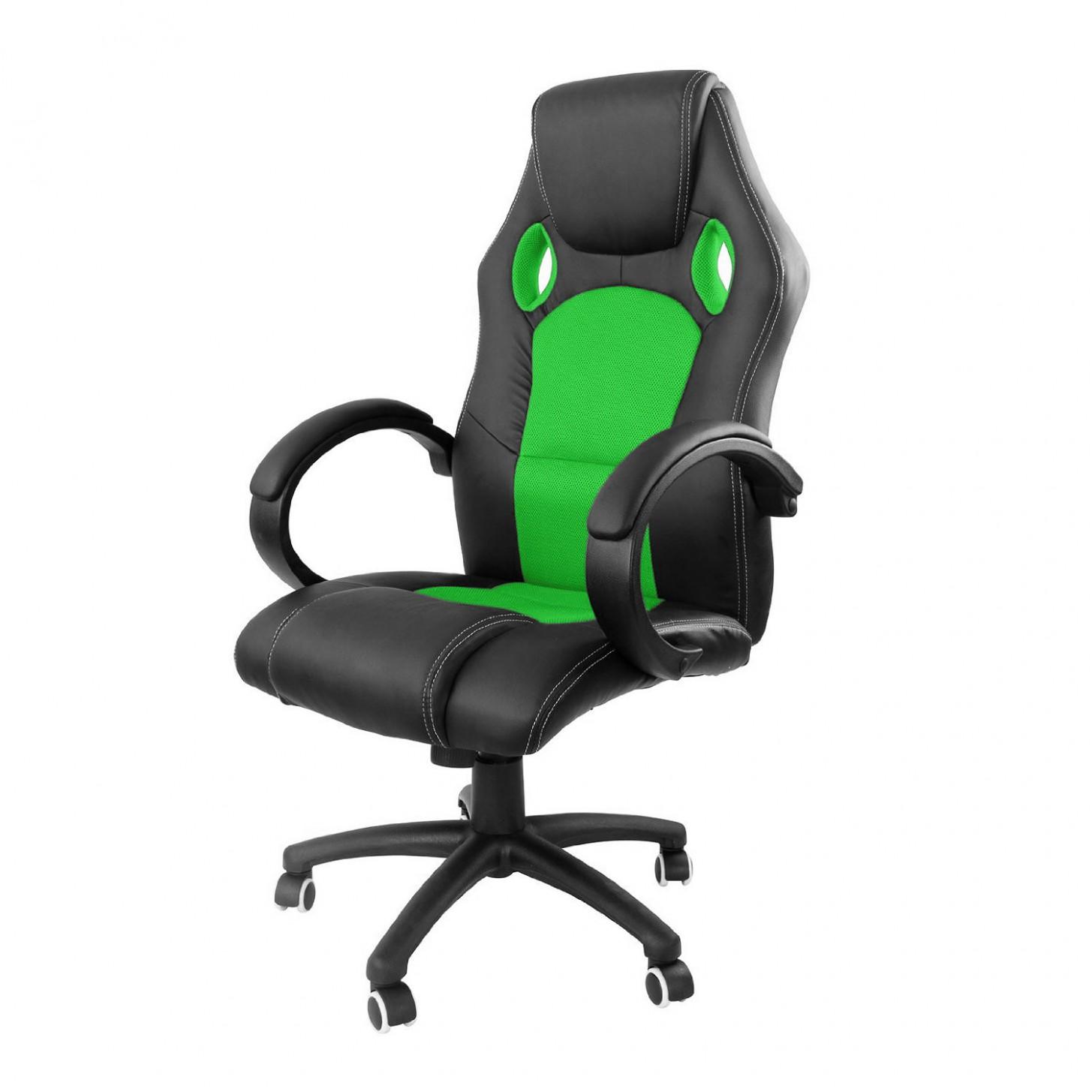 Kancelářská židle RACINGPRO ZK-20 černo/zelená - Designové židle