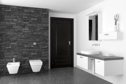 Moderní obklady do koupelny, to jsou i neobvyklé materiály