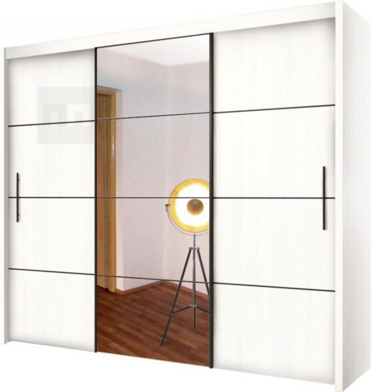 Šatní skříň s posuvnými dveřmi 23 bílá OF23 - Nakup-nabytek.cz