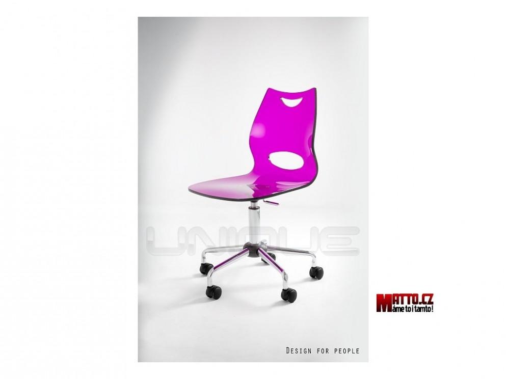 Unique Kancelářská židle Wave Plus Fialová - Matto.cz