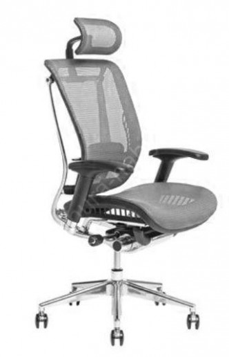 LACERTA-SP - síťované kancelářské křeslo s podhlavníkem s nosností ...