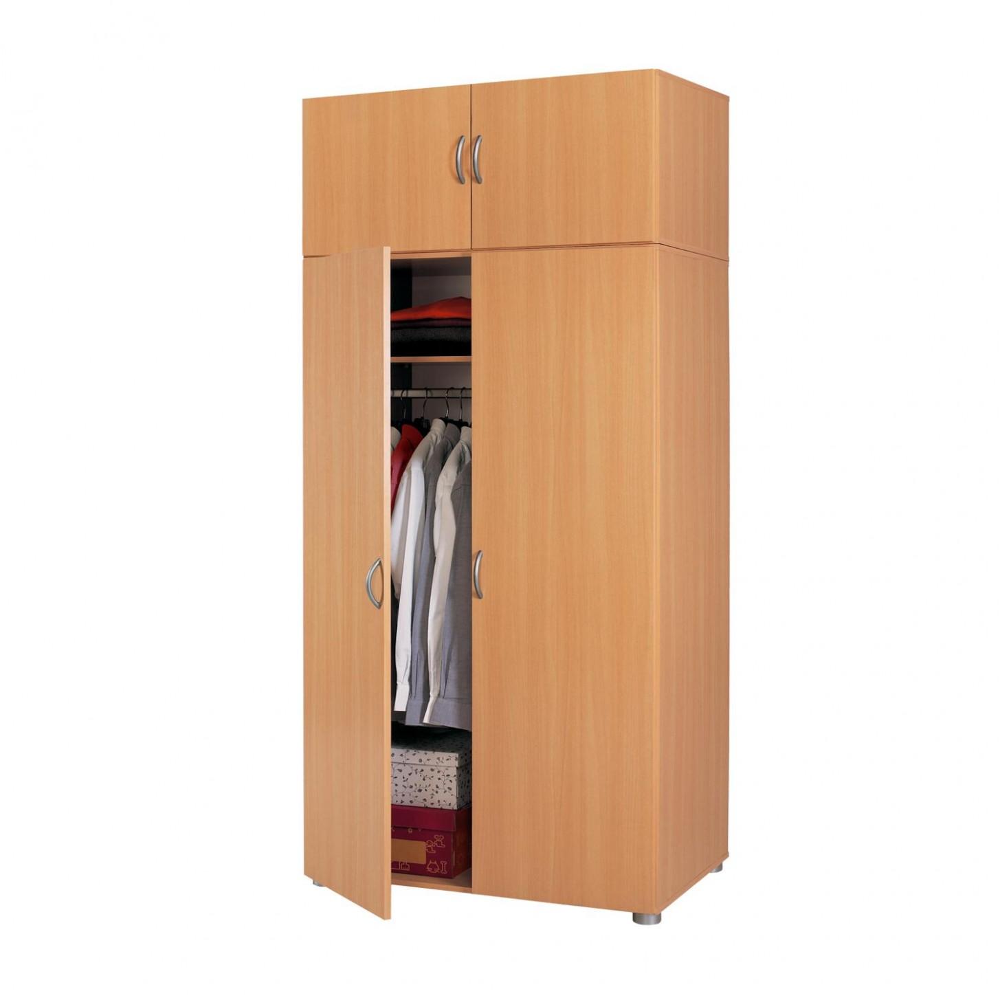 Šatní skříň s nástavcem IDEA 25A buk, šatní skříň 25 buk