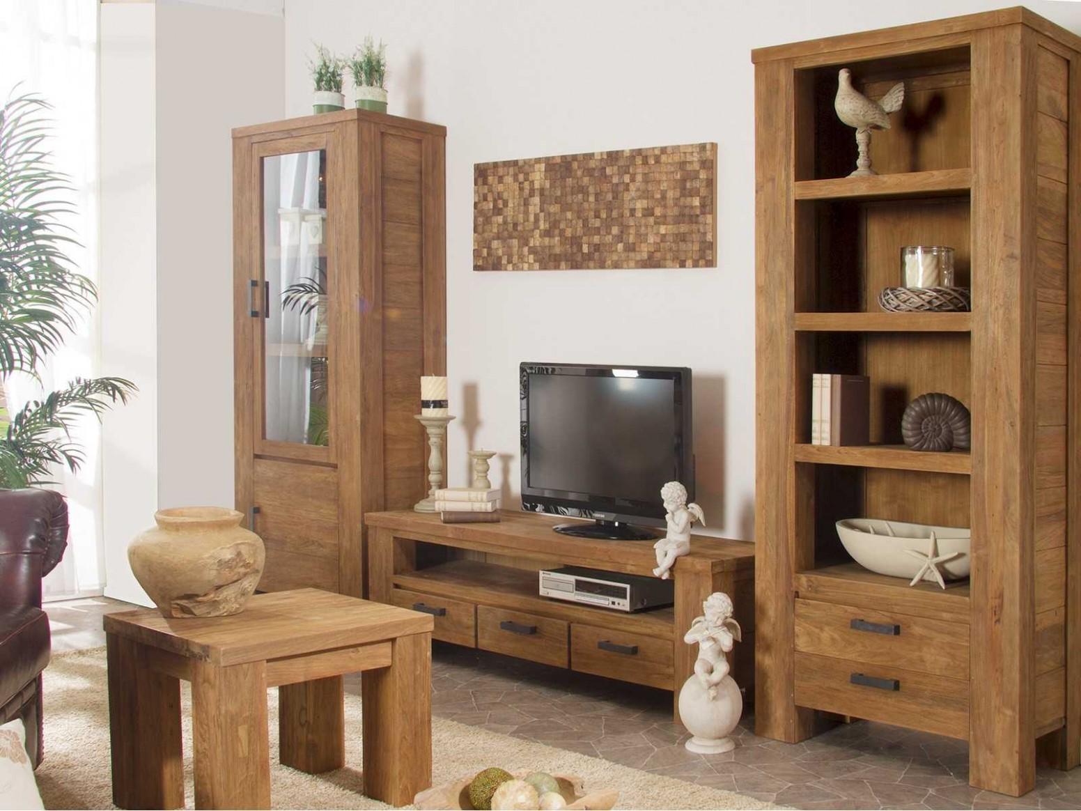 Dřevěné masivní stěny, kvalitní obývací nábytek ze dřeva - Sob nábytek