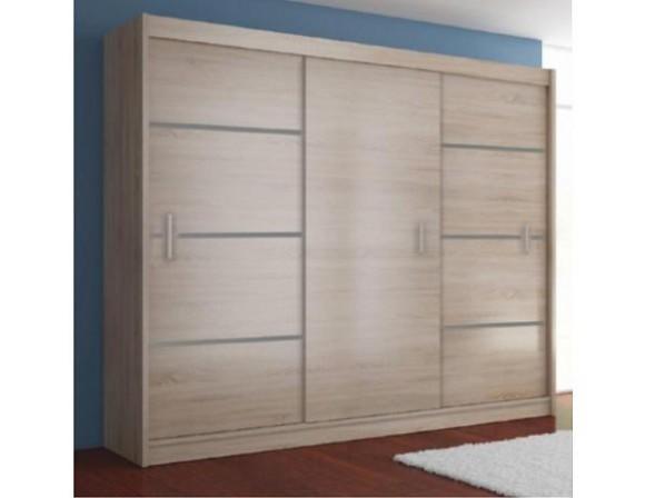 Skříň s posuvnými dveřmi MERINA 23, dub sonoma/ šedá | Nábytek za ...