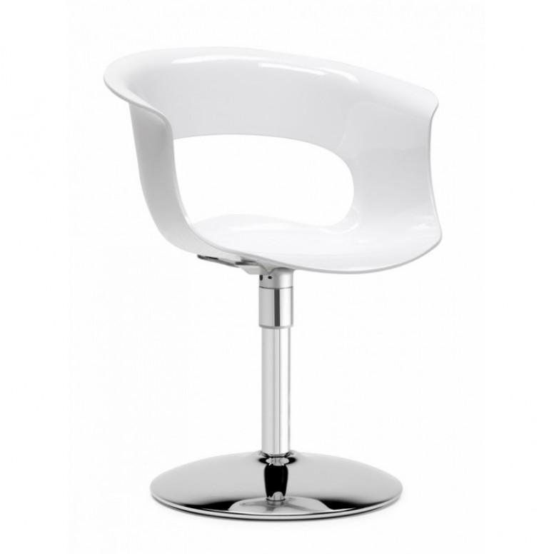 otočná kancelářská židle SCAB Miss B Twist Antishock, lesklá bílá