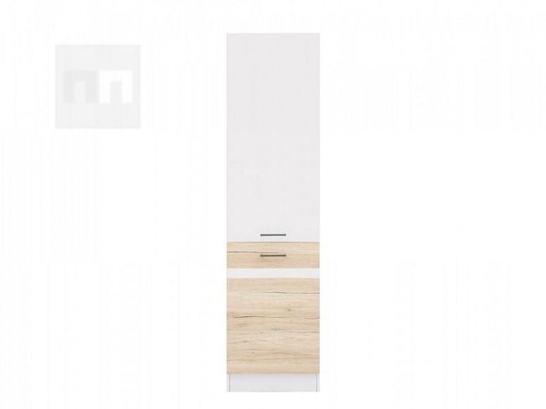 Potravinová skříň 20 cm pravá v kombinaci dub san remo světlý a bílý ...