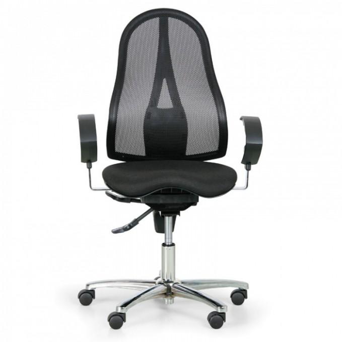 Zdravotní balanční kancelářská židle EXETER NET, černá   B25B Partner