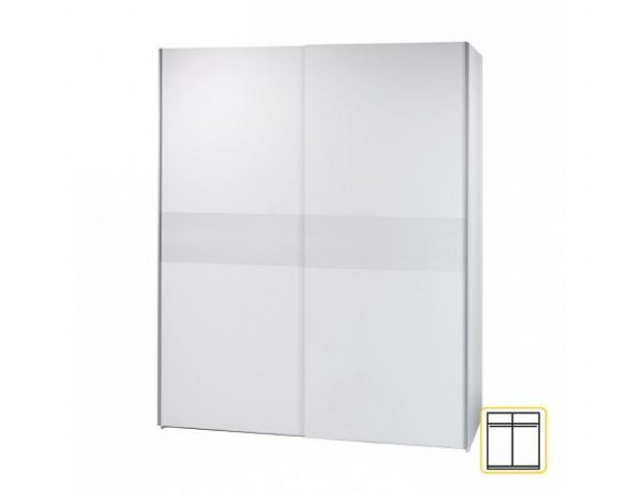 Dvoudveřová skříň, s posuvnými dveřmi, bílá, VICTOR 23   Nábytek za ...