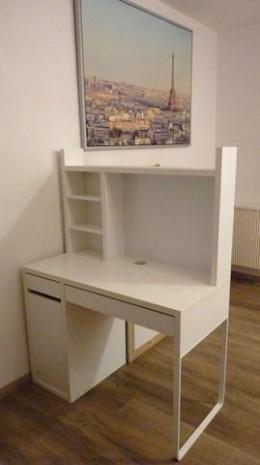 Psací, PC stůl IKEA MICKE bílý + nástavba PC25Kč | Aukro