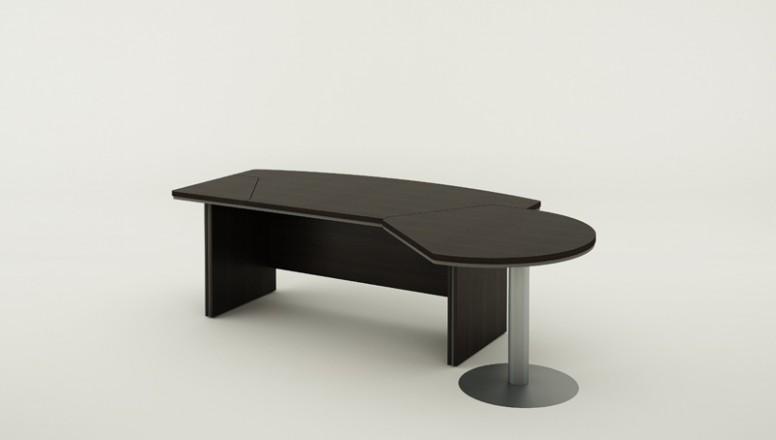 Psací stůl Bern Plus s jednacím prvkem, 277 x 277 mm, wenge   B27B ...