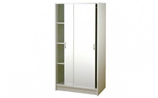 Šatní skříň s posuvnými dveřmi IA23B - lamino bílá - Nábytek INTENA