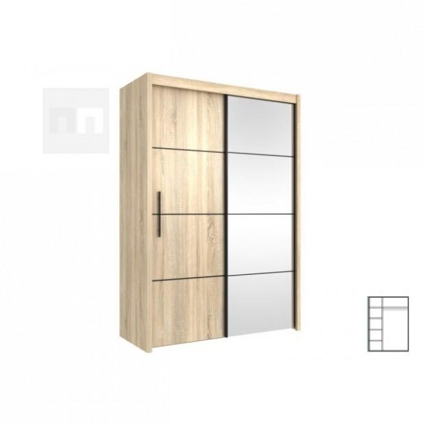 Šatní skříň s posuvnými dveřmi 23 dub sonoma OF23 - Nakup-nabytek.cz