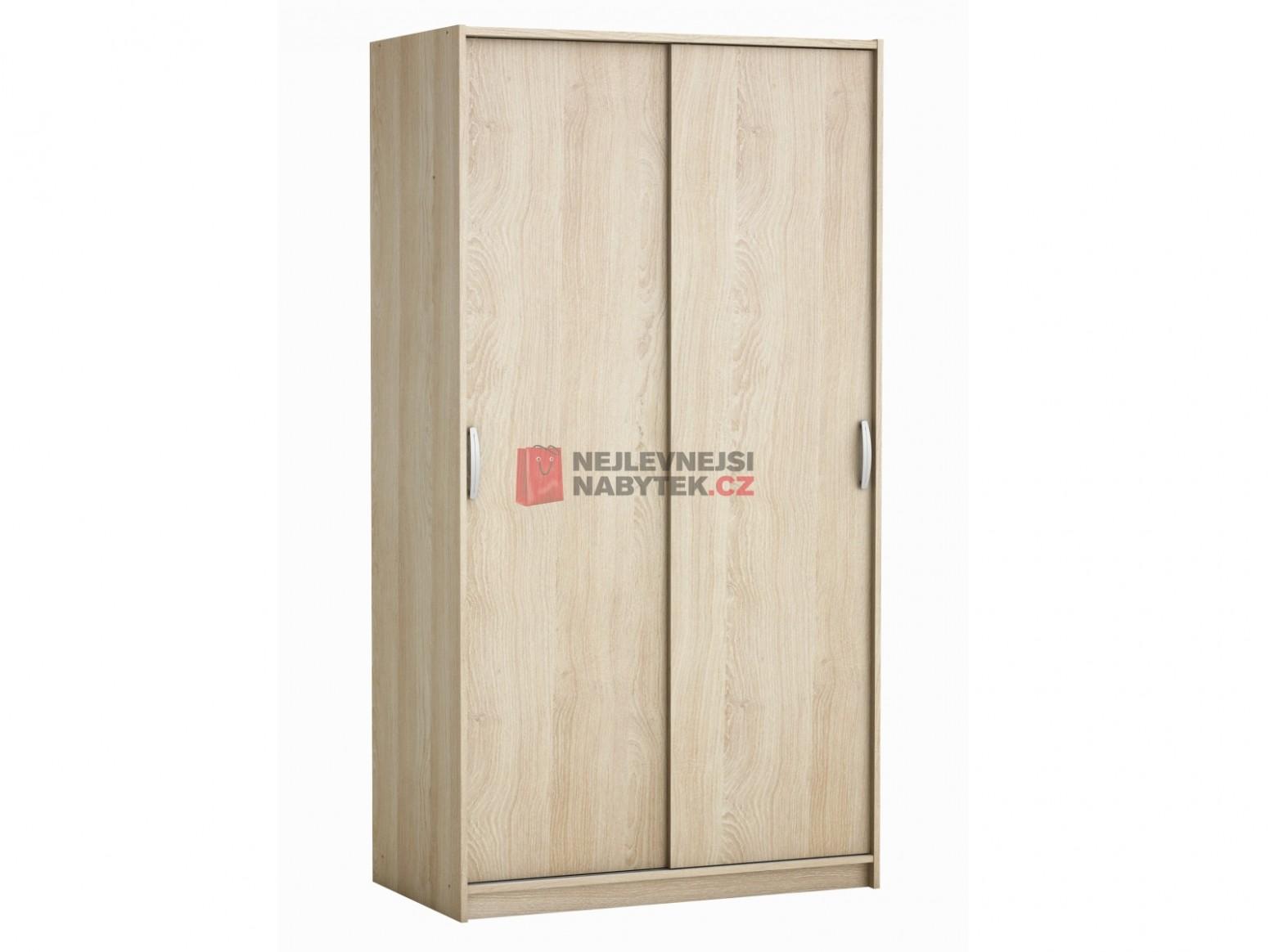 ROLINK skříň s posuvnými dveřmi, dub sonoma | NEJLEVNEJSINABYTEK.CZ