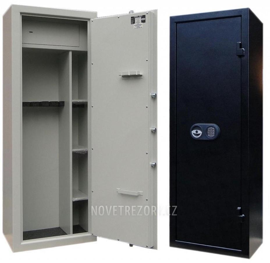 Zbraňová skříň / skříň na zbraně WSA 21 / Kombi s el. zámkem Premium ...
