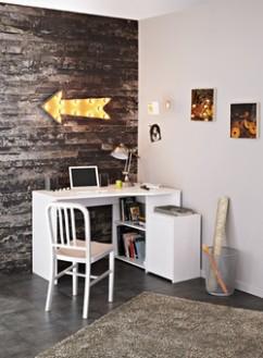 Bílý kancelářský nábytek v malém interiéru | Nábytek Aldo