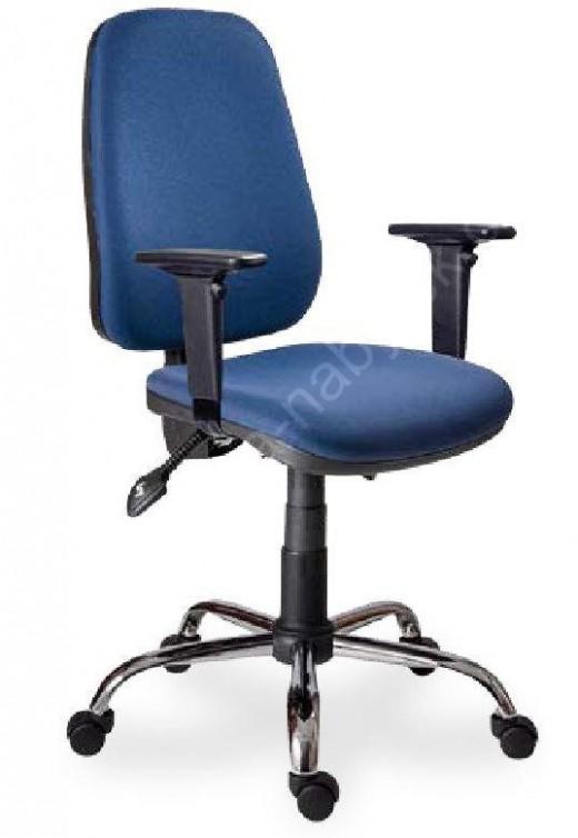 Pracovní kancelářská židle 35 ASYN C bez područek s chromovým ...