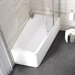 Asymetrické vany - koupel i sprcha v malé koupelně | RAVAK