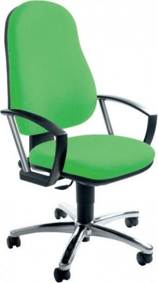 Židle kancelářská otočná, včetně područek, zelená | Židle ...