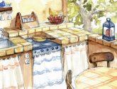 90+ Kvalitní Obraz z Kuchyňská Linka Z Cihel