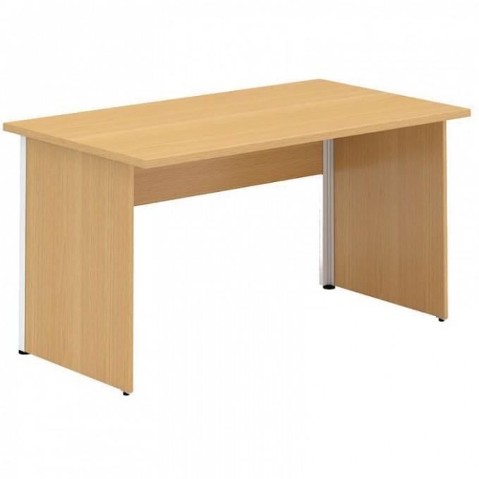 Kancelářský psací stůl CLASSIC A, 10 x 10 mm, dezén ořech | B10B ...