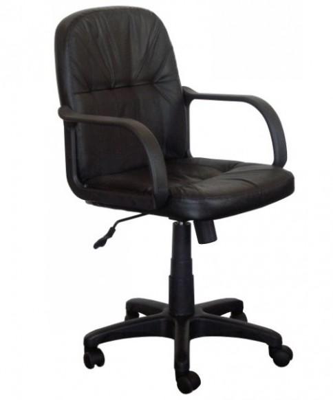 Kancelářská kožená židle Manager, černá