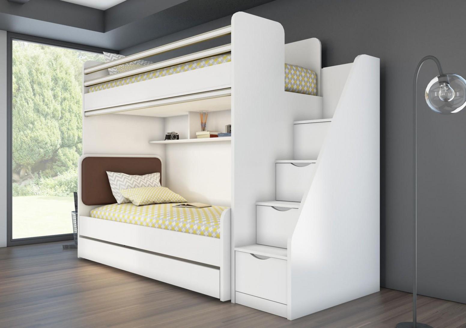 Patrová postel pro dvě děti Oxford - Yellow - Patrová postel - pouze ...