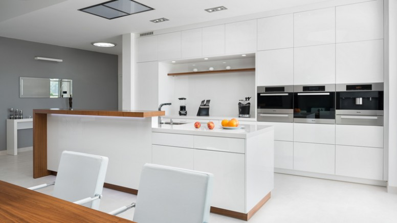 Kuchyně Bílá Vysoký Lesk