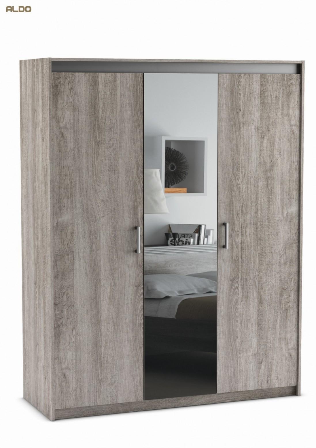 Šatní skříň se zrcadlem Diva 67 | Nábytek Aldo