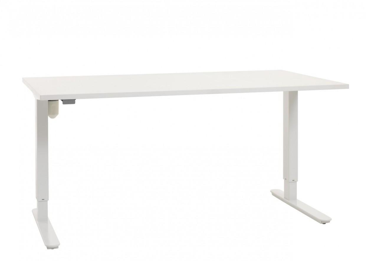 Stůl nastav. výška STAVANGER 47x47 bílá | JYSK
