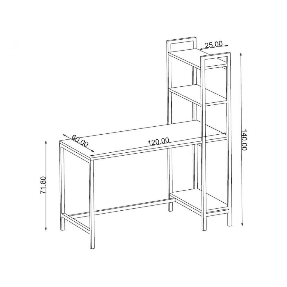 Pracovní stůl z kovu a dřevotřísky Back To School, výška 47 cm | Bonami