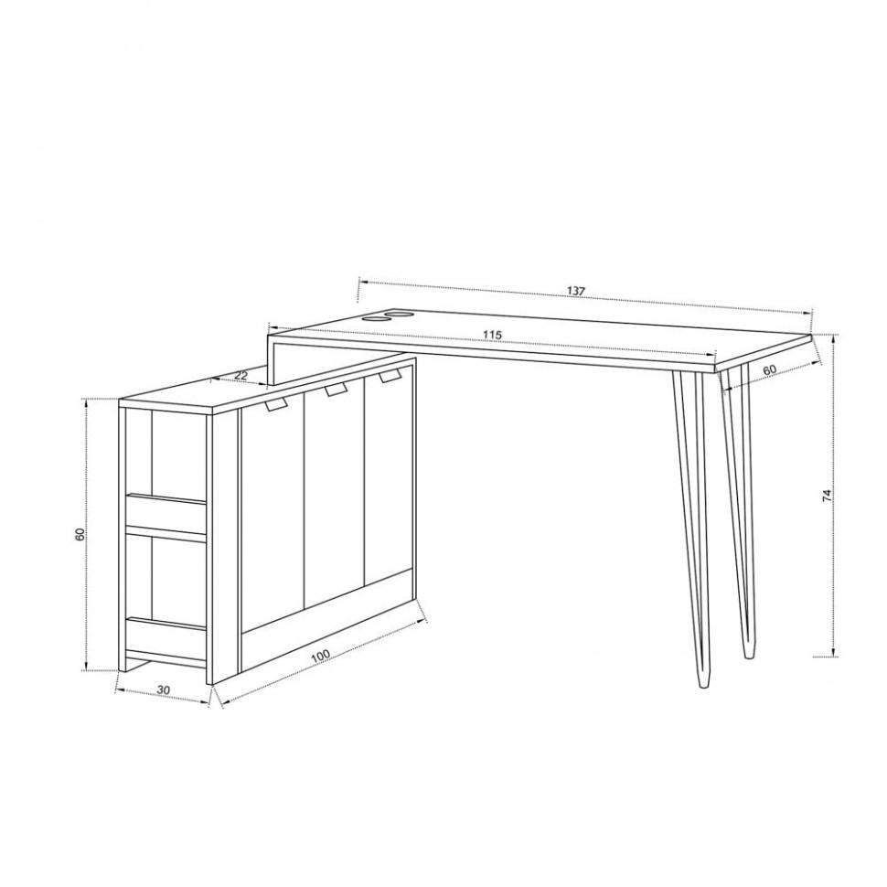 Pracovní stůl Greyjoy, výška 47 cm | Bonami