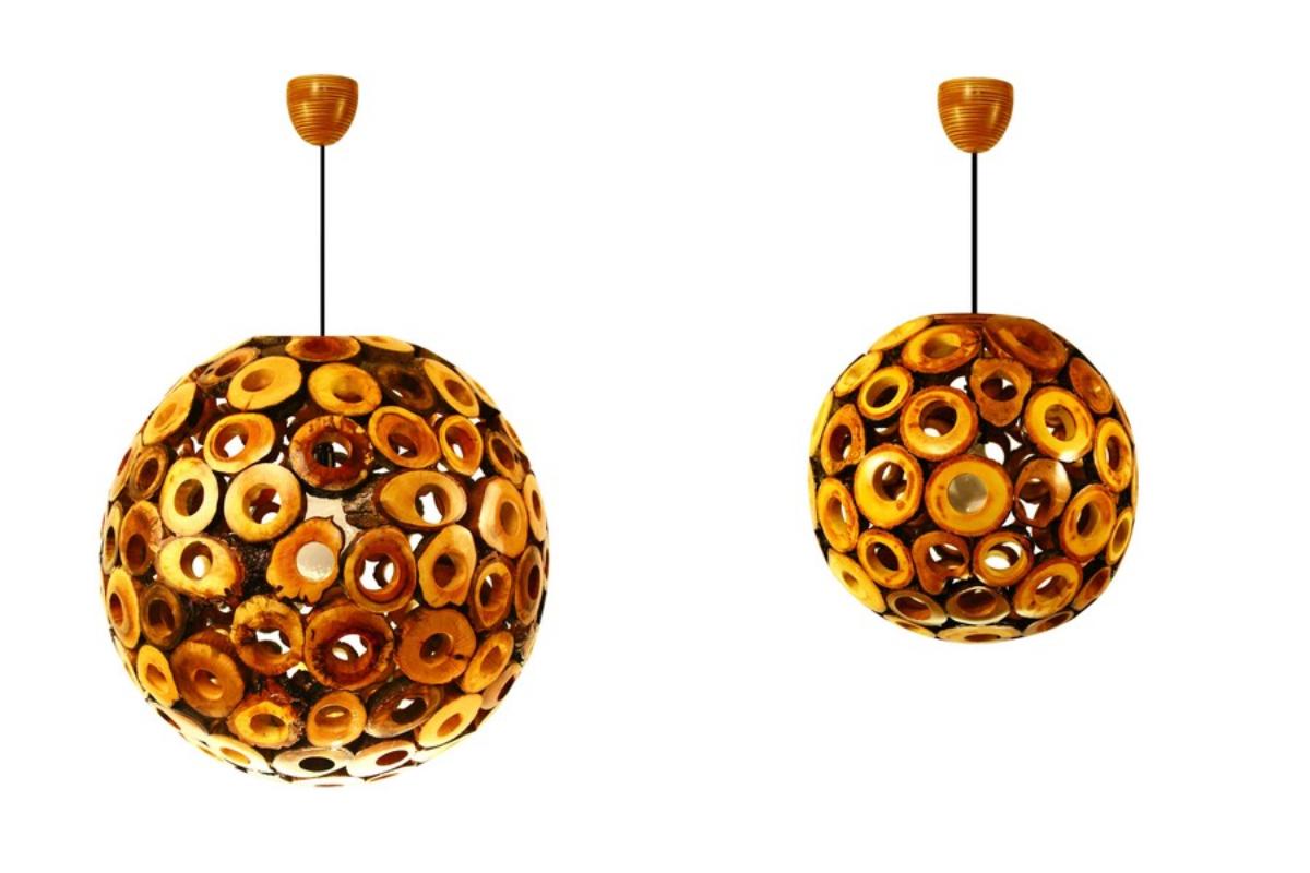 Venkovní světla a Stropní světla použít Dřevěná lampa s fascinujícím designem