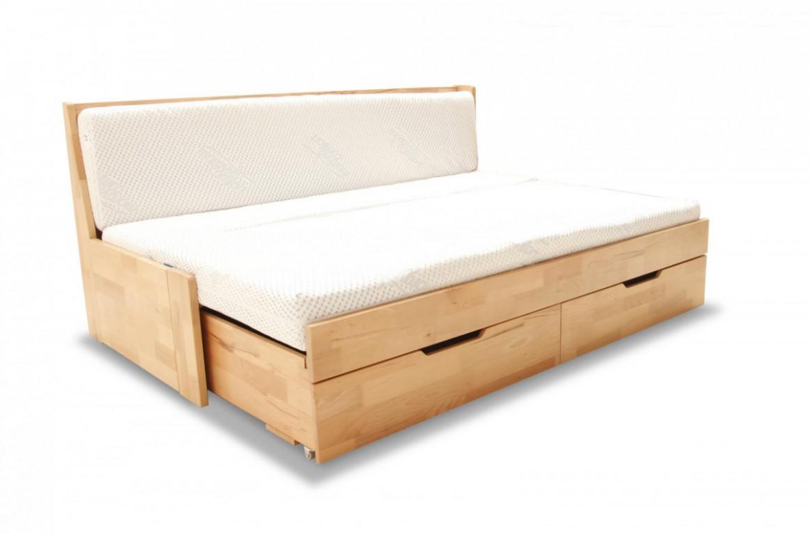Inspirace rozkládací postele s úložným prostorem