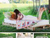 Paletová houpací sedačka