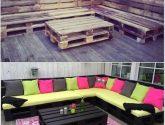 Paletová venkovní sedačka