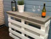 Paletový stolek na terasu či balkon