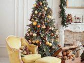 Nejchladnější z Vánoční interiér