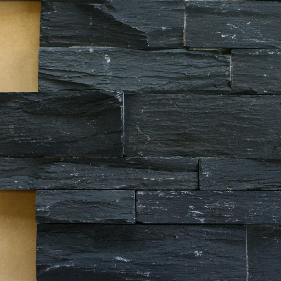 Břidlice černá, skládaný obklad Rustic