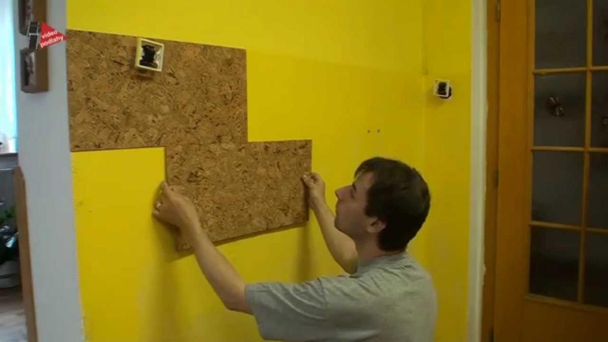 Jak nalepit korkové obklady na stěnu