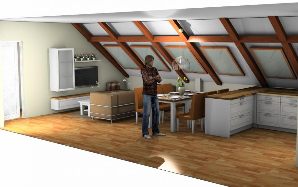 14D návrh podkrovního bytu | Dům a zahrada - bydlení je hra