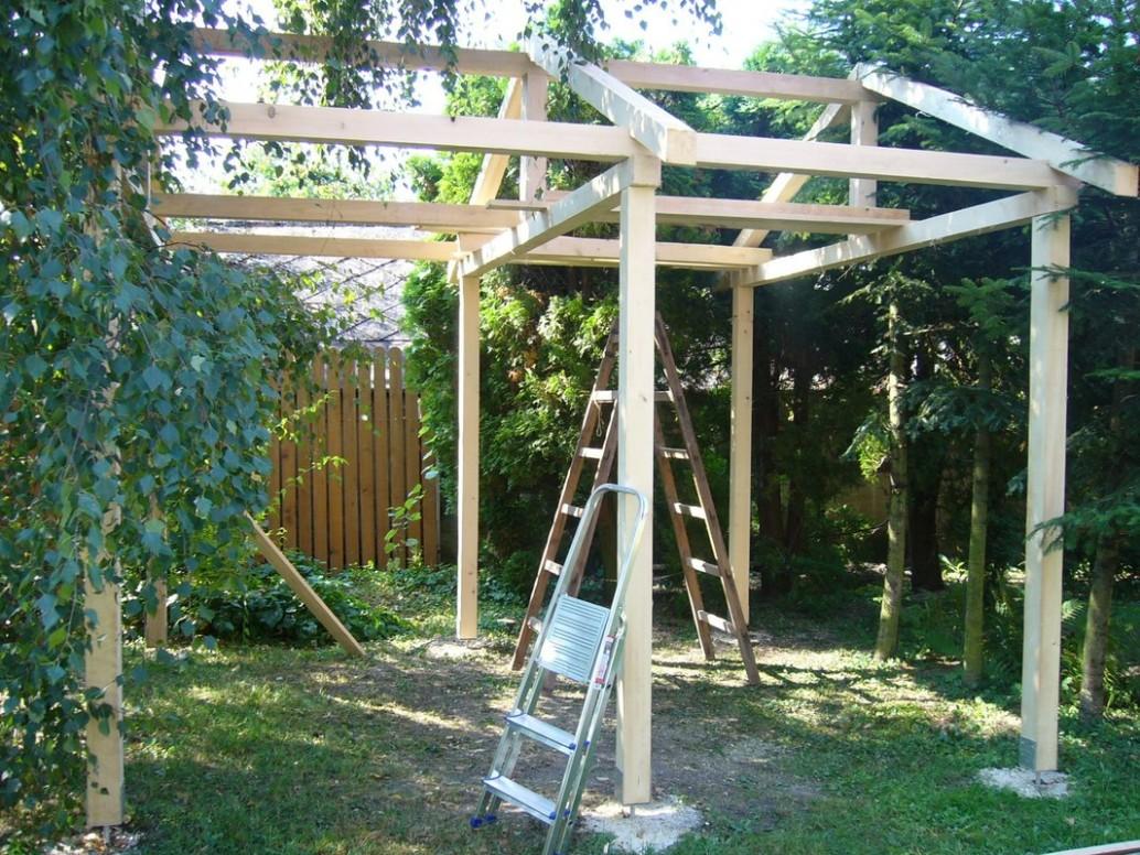 Stavba záhradného prístrešku - Altánok