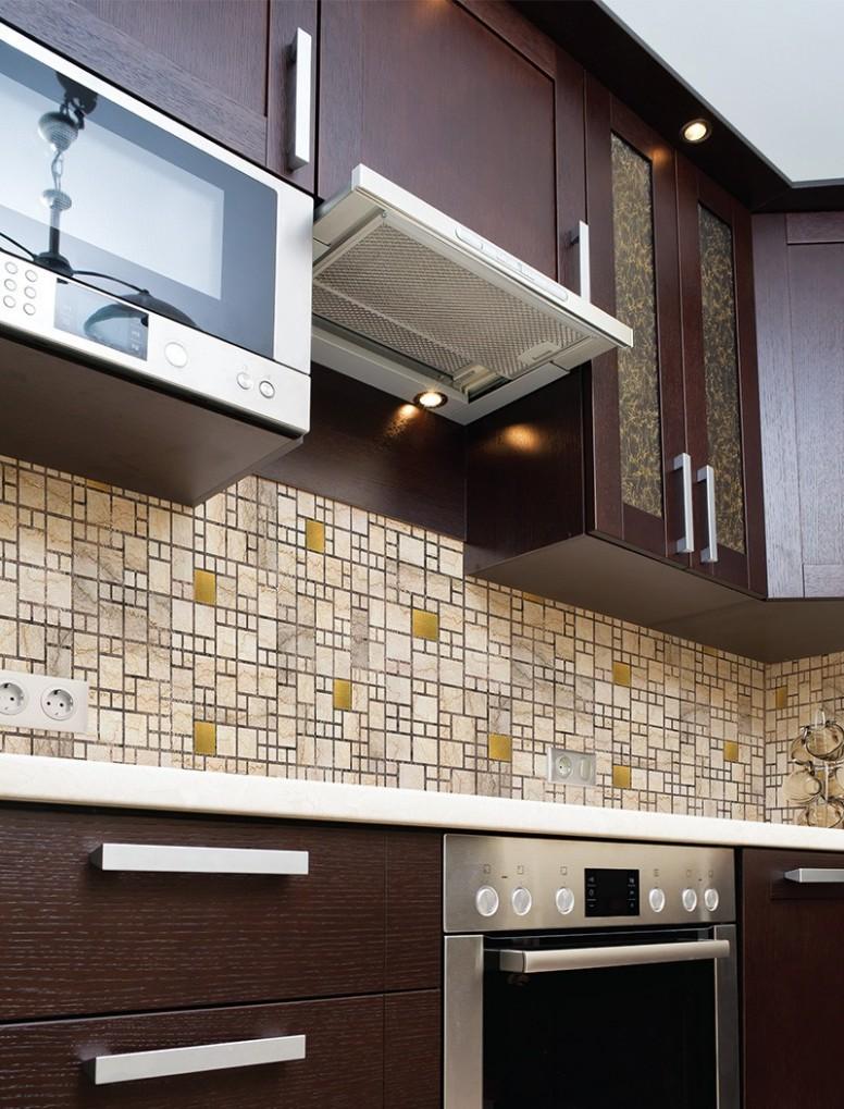 30D obkladový omyvatelný panel PVC mozaika mramor se zlatem, velikost 30 x  30 cm