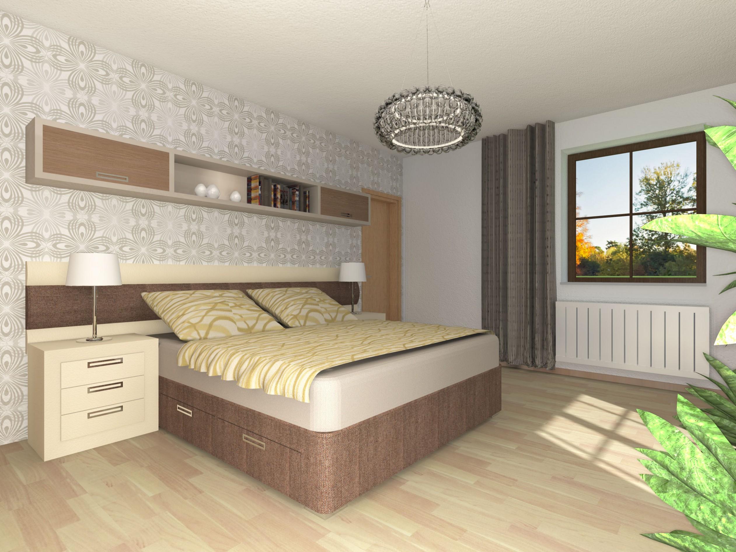 Interiér ložnice | Komplexní projekční služby, návrhy interiérů